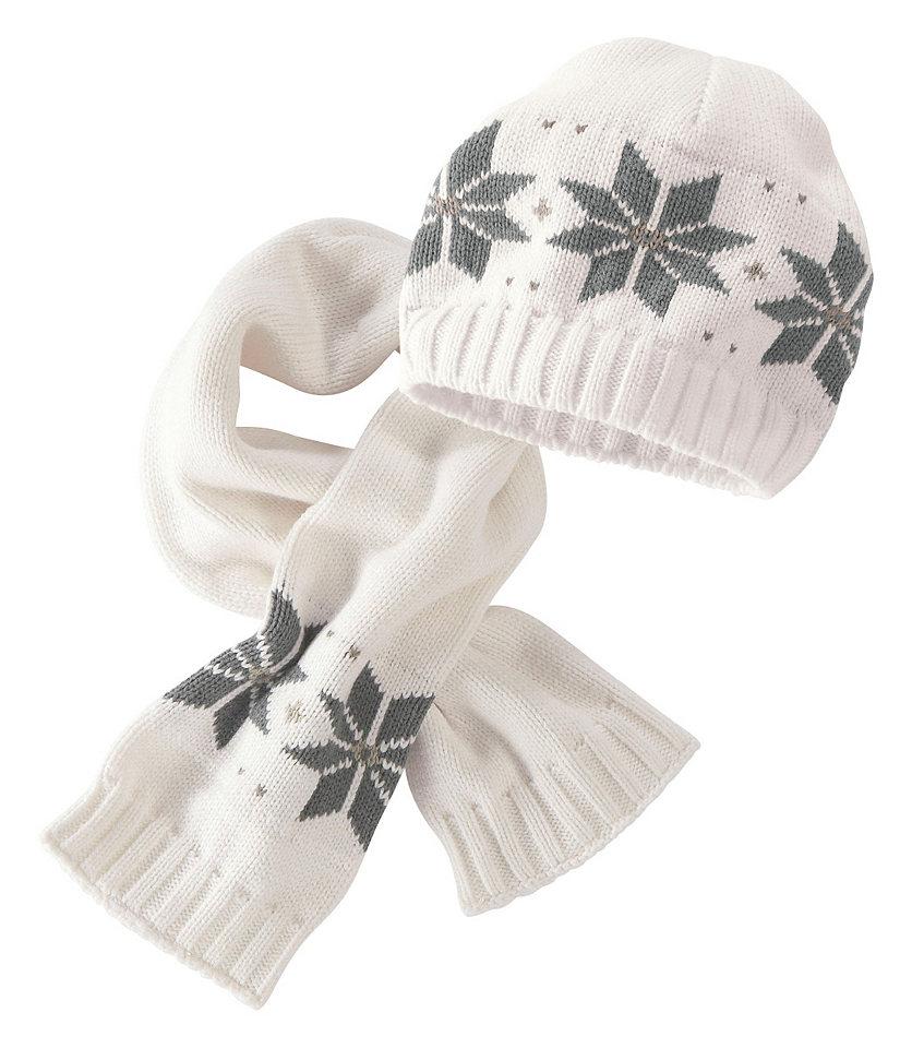 Трикотажная шапка и шарф для младенцев, Klitzeklein (2 предмета) Otto