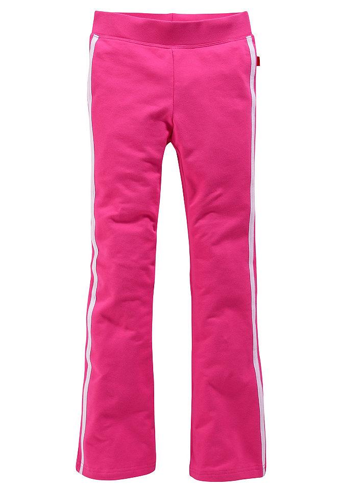 Спортивные брюки OttoСтильные спортивные брюки с контрастными полосами по бокам. Слегка расклешённый покрой. Удобный трикотаж из био-хлопка с долей стретча. Прекрасные базовые расцветки на любой вкус! Пояс на сплошной резинке. Всё из 95 % хлопка + 5 % эластана, все расцветки из материала без примесей. (Био-хлопок со знаком PURE WEAR).<br><br>Size DE: 170<br>Colour: розовый<br>Age: Детский<br>Material: Верх: 89% Baumwolle_(unterst?tzt_Cotton_made_in_Africa) / 6% полиэстер / 5% эластан