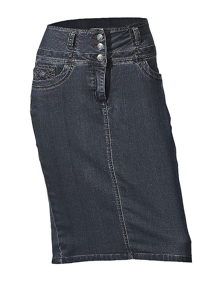 Моделирующая джинсовая юбка OttoЮбки<br>Классическая модель для создания стройного силуэта! Узкий покрой с 5 карманами и вставкой из материала «Power Mesh». Контрастные швы. Длина ок. 60 см. Высокий пояс, с застёжкой на 3 пуговицы. 52 % хлопка, 24 % полиэстера, 22 % вискозы, 2 % эластана. материал Power-Mesh: 80 % полиамида, 20 % эластана. Модель белого цвета: 97 % хлопка, 3 % эластана. Машинная стирка.<br><br>Size DE: 42<br>Colour: синий<br>Gender: Женский<br>Age: Взрослый<br>Material: Верх: 52% хлопок / 24% полиэстер / 22% вискоза / 2% эластан