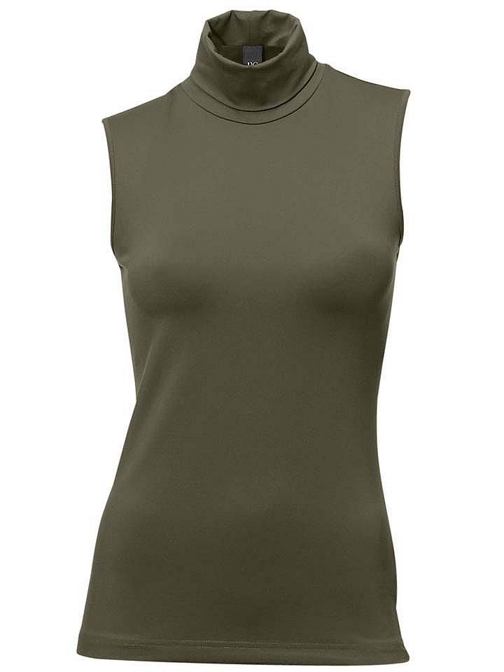Топ-водолазка OttoОвен<br>Топ-водолазка. Длина ок. 60 см. Из 90% полиамида и 10% эластана (тактель). Облегающий покрой. Можно стирать. Мягкий на ощупь. Нелиняющая, немнущаяся, совершенно простая в уходе ткань. Превосходная посадка изделия<br><br>Size DE: 42<br>Colour: зеленый<br>Gender: Женский<br>Age: Взрослый<br>Material: Верх: 90% полиамид / 10% эластан