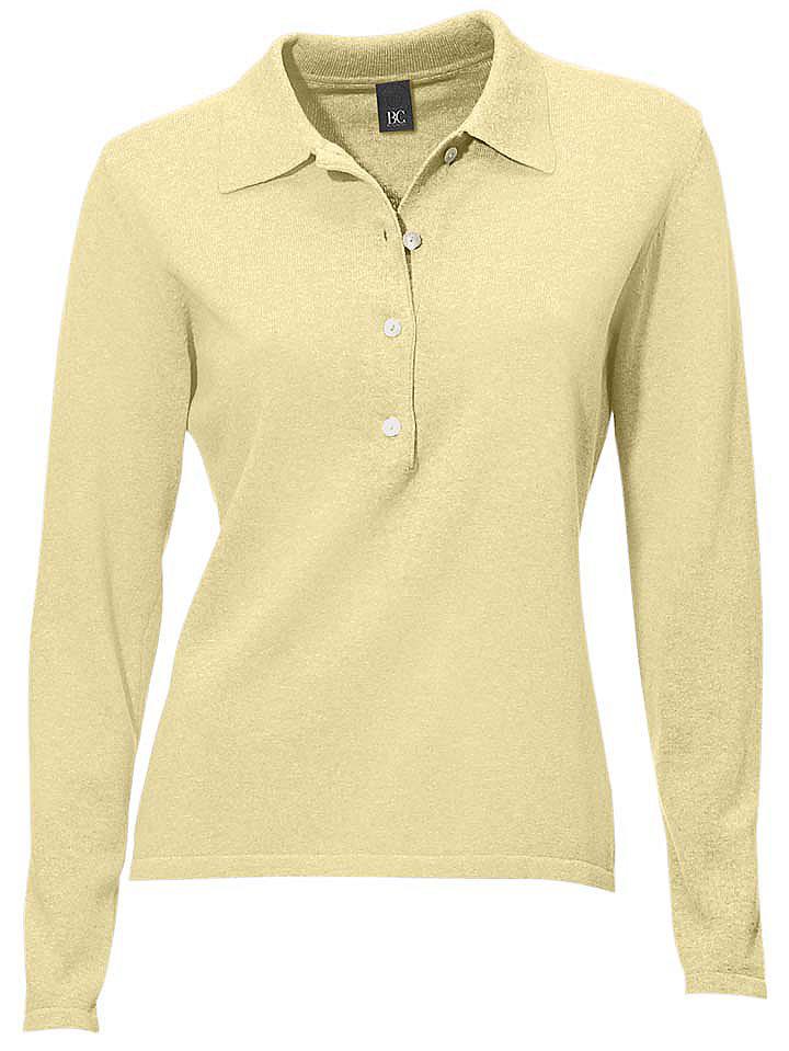 Пуловер-поло OttoОвен<br>Пуловер-поло. Длина ок. 58 см.<br><br>Size DE: 44<br>Colour: бежевый<br>Gender: Женский<br>Age: Взрослый<br>Material: Верх: 100% Baumwolle_(mass_balance)