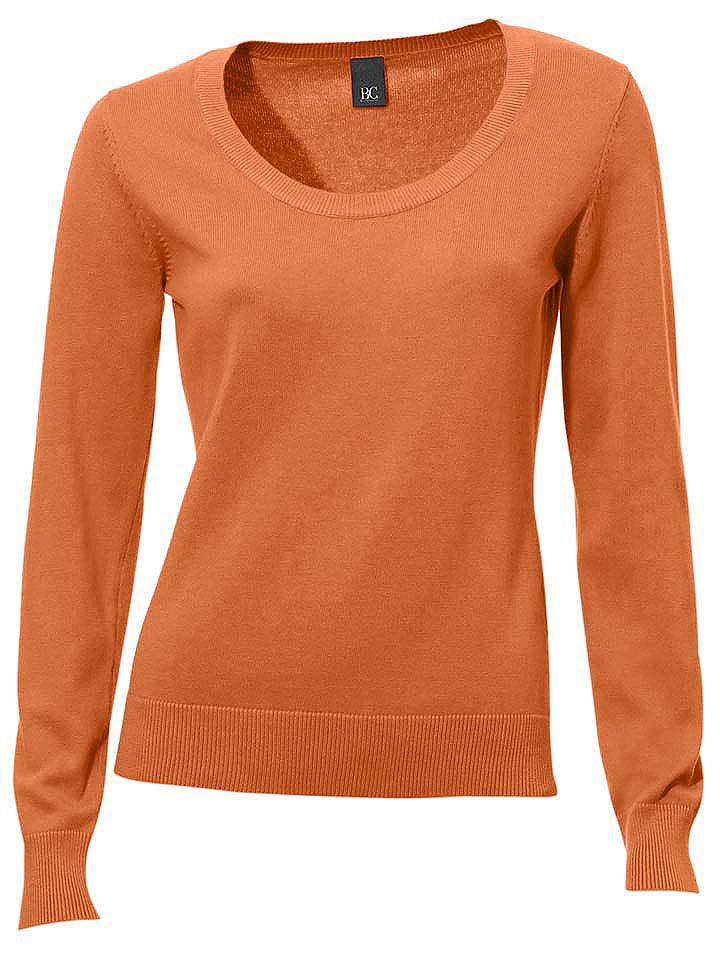 Пуловер OttoКозерог<br>Пуловер с круглым вырезом. Длина ок. 60 см.<br><br>Size DE: 44<br>Colour: оранжевый<br>Gender: Женский<br>Age: Взрослый<br>Material: Верх: 100% Baumwolle_(mass_balance)