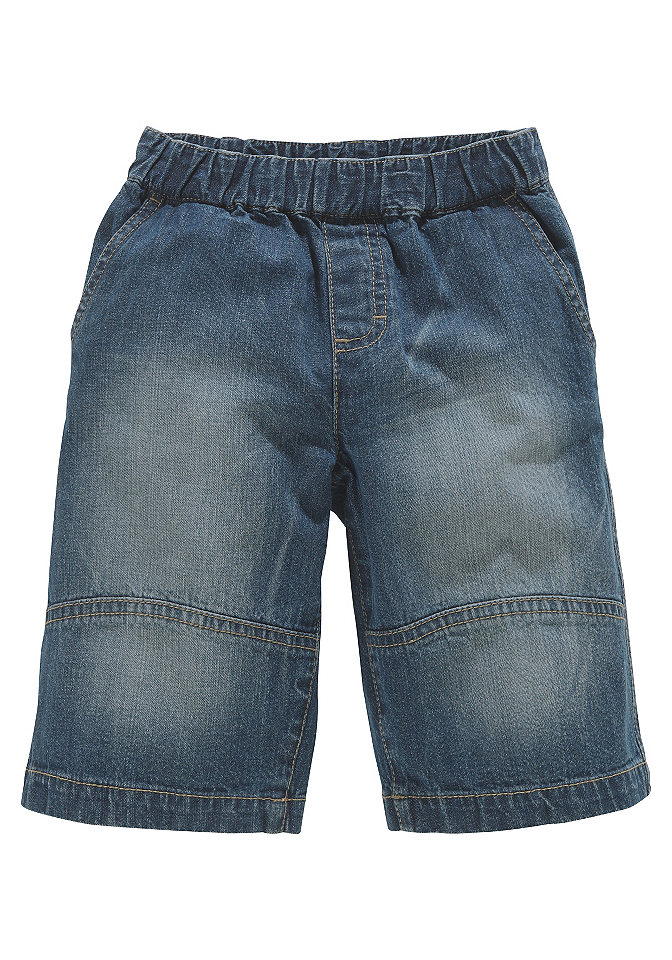 CFL, бермуды без застёжки для мальчиков OttoБрюки и джинсы<br>Джинсовые бермуды свободного покроя от CFL для мальчиков. Модель легко надевается и снимается благодаря эластичному поясу на резинке. Спереди два втачных кармана. Накладные карманы сзади. Длина до середины колена. Из 100 % хлопка.<br><br>Size DE: 140<br>Colour: синий<br>Gender: Мужской<br>Age: Детский<br>Material: Верх: 100% хлопок