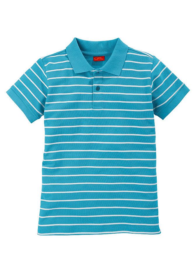 Рубашка-поло для мальчико OttoФутболки и поло<br>Стильная полосатая рубашка-поло CFL. Модель изготовлена из экологически чистого и безопасного для кожи хлопка. Тип изделия: рубашка-поло. Качество изделия: материал безопасен для кожи. Материал: хлопок, ткань пике. Покрой: базовый. Форма: прямая. Особенности покроя: модель имеет боковые разрезы. Воротник: поло. Тип застежки: пуговицы на передней части модели. Тип пуговиц: пластмассовые. Рукава: короткие. Кант рукавов: гофрированный. Подол: стеганый кант. Расцветка: в полоску. Рекомендуется машинная стирка. Доставка: в горизонтальном положении. Состав: модели бело-черного, красно-белого, бело-синего и бирюзово-белого цветов: Лицевой материал: 100% хлопок (покупая данный товар, вы поддерживаете организацию Хлопок, выращенный в Африке). Модель черно-белого цвета: Лицевой материал: 100% органический хлопок.<br><br>Size DE: 140<br>Colour: зеленый<br>Gender: Мужской<br>Age: Детский<br>Material: Верх: 100% хлопок (органический)