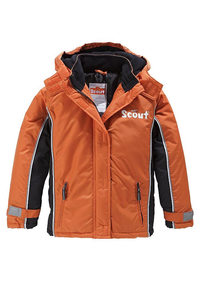 Лыжная куртка OttoКуртки и пальто<br>Лыжная куртка от Scout с отстёгивающимся капюшоном. Застёжка-липучка и защита от ветра на рукавах. Застёжка на молнию, планка с застёжкой-липучкой спереди. Капюшон с подкладкой из флиса. Карманы на молнии, светоотражающая окантовка и небольшой рисунок «SCOUT» на линии груди. Внутренний карман и этикетка с названием бренда. Прочный лицевой материал. Подкладка и утеплитель из 100 % полиэстера. Дети растут быстро. Поэтому с детей следует регулярно снимать мерки. Эта куртка пошита так, что под неё можно носить пуловер. Для оптимальной посадки просим заказывать подходящий размер (= рост), а не покупать на вырост, так как иначе рукава и вся куртка будут слишком длинными. Лицевой материал: 100 % полиамида. Утеплитель/подкладка: 100 % полиэстера. Тип: Лыжная куртка. Окантовка: с застёжкой-«липучкой». Вид застёжки: Застёжка на молнию. Карманы: 2 наружных кармана на молнии, внутренний карман. Капюшон: отстёгивающийся, подкладка из флиса. Аппликация: небольшой рисунок спереди. Защитные свойства: Светоотражатели. Советы по уходу: Машинная стирка.<br><br>Size DE: 152<br>Colour: оранжевый<br>Age: Детский<br>Material: Подбивка: 100% полиэстер;Подкладка: 100% полиэстер;Верх: 100% полиамид