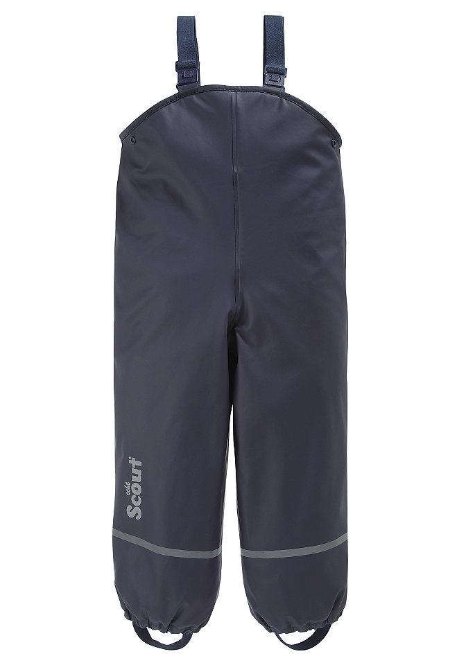 Защитные брюки на подкладке OttoЗащитные брюки на подкладке от SCOUT. Идеальное решение для дождливой погоды, игр на пляже или детской площадке – максимальный комфорт для каждого ребёнка. Оптимальная защита в непогоду. С небольшим светоотражающим принтом «SCOUT» внизу. Размер можно легко подогнать, так как длина подтяжек регулируется, а ширину можно изменять с помощью боковых кнопок. Со светоотражающими полосками на брючинах. Эластичная окантовка по нижнему краю и штрипки не позволят брюкам задраться. Защитные брюки выполнены из мягкого материала (100 % полиэстера) с подкладкой из тёплого «полярного» флиса. Сварные швы защищают от влаги. Верхний материал из 100 % полиэстера с полиуретановым покрытием.<br><br>Size DE: 80<br>Colour: синий<br>Age: Детский<br>Material: Подкладка: 100% полиэстер;Верх: 100% полиэстер