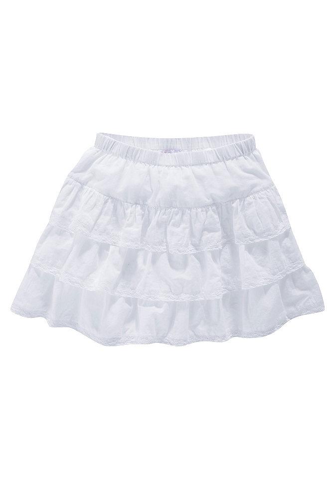 CFL, юбка с воланом и кружевным кантом, для девочек OttoПлатья и юбки<br>Милая мини-юбка с воланами и кружевом – просто загляденье! 100 % хлопка.<br><br>Size DE: 176<br>Colour: белый<br>Gender: Женский<br>Age: Детский<br>Material: Верх: 100% хлопок