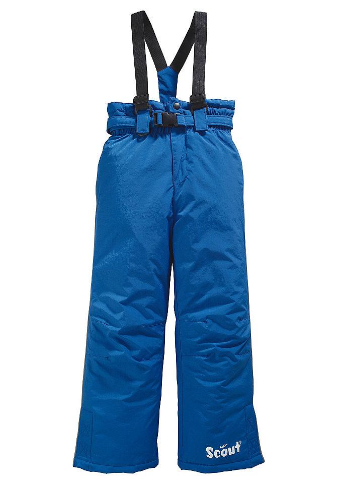 Лыжные брюки OttoКуртки<br>Бретели брюк можно регулировать или отстегнуть. Эластичный пояс. Втачные карманы с застёжкой на молнию. Разрезы сбоку по нижнему краю застёгиваются на застёжку-липучку - оптимальная защита от ветра. Верхний материал: 100 % полиамида. Подкладка и утеплитель: 100 % полиэстера. Модель бирюзового цвета в клетку: Верхний материал: 100 % полиэстера. Подкладка и утеплитель: 100 % полиэстера.<br><br>Size DE: 134<br>Colour: синий<br>Age: Детский<br>Material: Подбивка: 100% полиэстер;Подкладка: 100% полиэстер;Верх: 100% полиамид