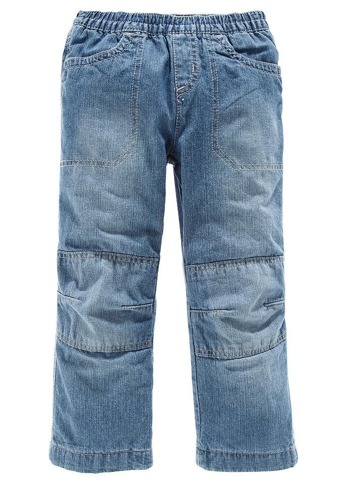Джинсы OttoБрюки и джинсы<br>Джинсы свободного прямого покроя. На подкладке. Легко надеваются и снимаются благодаря эластичному поясу на резинке. Два кармана сзади и два втачных кармана спереди. Особо прочная модель с двойными вставками на коленях. Подкладка из хлопчатобумажного материала. Из 100 % хлопка.<br><br>Size DE: 134<br>Colour: синий<br>Gender: Мужской<br>Age: Детский<br>Material: Подкладка: 100% хлопок;Верх: 100% хлопок