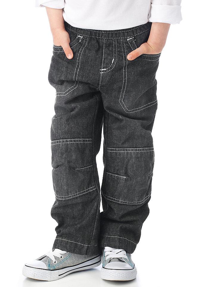Джинсы OttoБрюки и джинсы<br>Джинсы свободного прямого покроя. На подкладке. Легко надеваются и снимаются благодаря эластичному поясу на резинке. Два кармана сзади и два втачных кармана спереди. Особо прочная модель с двойными вставками на коленях. Подкладка из хлопчатобумажного материала. Из 100 % хлопка.<br><br>Size DE: 128<br>Colour: черный<br>Gender: Мужской<br>Age: Детский<br>Material: Подкладка: 100% хлопок;Верх: 100% хлопок