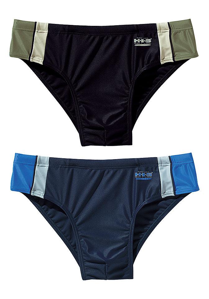 Плавки, H.I.S. Swimwear OttoПляжная мода<br>Модный вид: классические плавки. По бокам вставки в виде цветных полос. Логотип спереди. Небольшой внутренний карман. Из 80 % полиамида, 20 % эластана (линель).<br><br>Size DE: 4<br>Colour: черный<br>Gender: Мужской<br>Age: Взрослый<br>Material: Подкладка: 100% полиэстер;Верх: 80% полиамид / 20% эластан