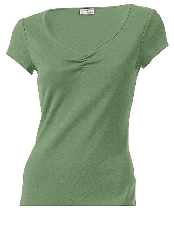 Трикотажное платье OttoЛетние<br>Красивая летняя базовая модель в элегантном стиле. V-образный вырез с изящной драпировкой и узкая окантовка по нижнему краю. Длина ок. 98 см. Покрой отлично подчёркивает фигуру. 95 % хлопка, 5% эластана. Серый меланж: 65 % хлопка, 30 % полиэстера, 5 % эластана. Машинная стирка.<br><br>Size DE: 38<br>Colour: зеленый<br>Gender: Женский<br>Age: Взрослый<br>Material: Верх: 95% хлопок / 5% эластан