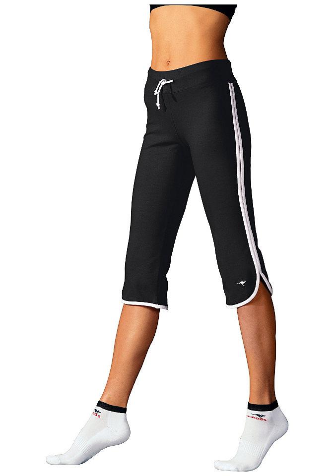 Брюки капри от Kangaroos OttoБрюки<br>Модные брюки капри с контрастными боковыми полосами и кулиской. По-особому удобная посадка. Из 90 % хлопка и 10 % эластана.<br><br>Size DE: 44<br>Colour: черный<br>Gender: Женский<br>Age: Взрослый<br>Material: Верх: 90% хлопок / 10% эластан