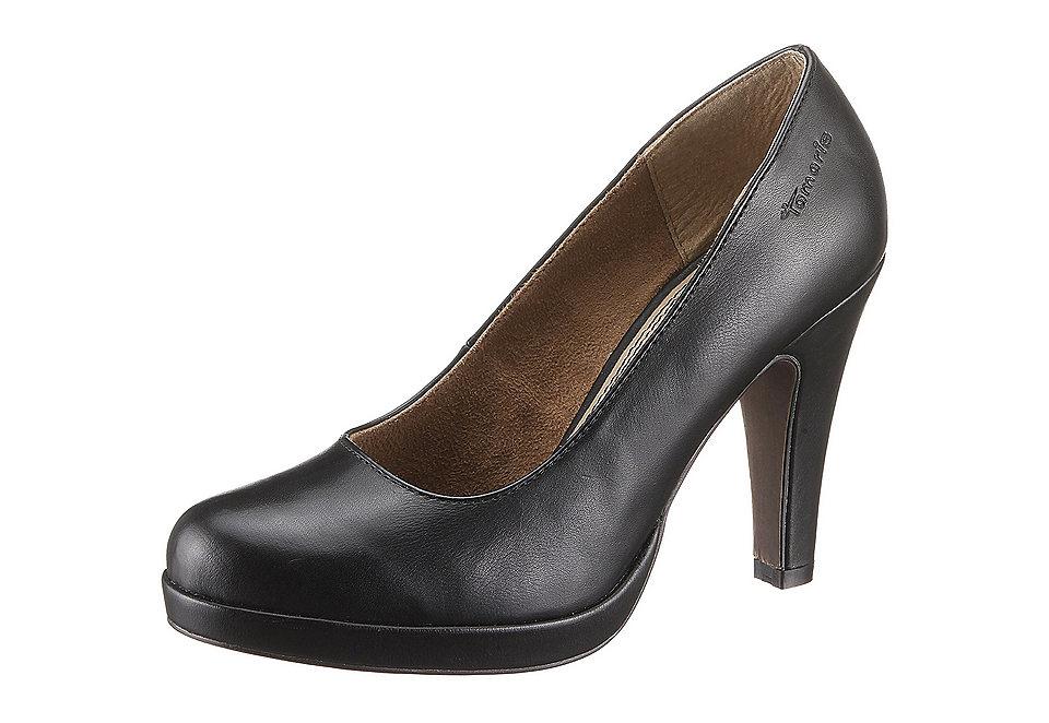 Туфли на высоком каблуке OttoВодолей<br>Туфли на высоком каблуке от Tamaris, из искусственной кожи, подкладка: текстиль. Уплотнённая стелька из кожи, подошва из синтетики, каблук высотой 9 см и платформа высотой 1,5 см. Ширина колодки: ширина F (классическая).<br><br>Size DE: 35<br>Colour: черный<br>Gender: Женский<br>Age: Взрослый