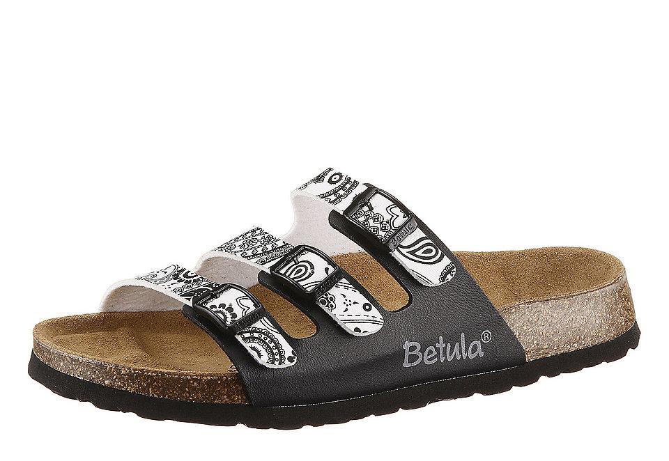 Шлёпанцы, Betula, »Woogie« OttoДомашняя обувь<br>Шлёпанцы, Betula, »Woogie«. На выбор предлагается специальная мягкая стельки для максимального комфорта или с обычной стелькой. Из материала Birko-Flor®, стелька из кожи, лицензированная основа Birkenstock® из натуральной пробки, лёгкая ячеистая подошва.<br><br>Size DE: 37<br>Colour: черный<br>Gender: Женский<br>Age: Взрослый