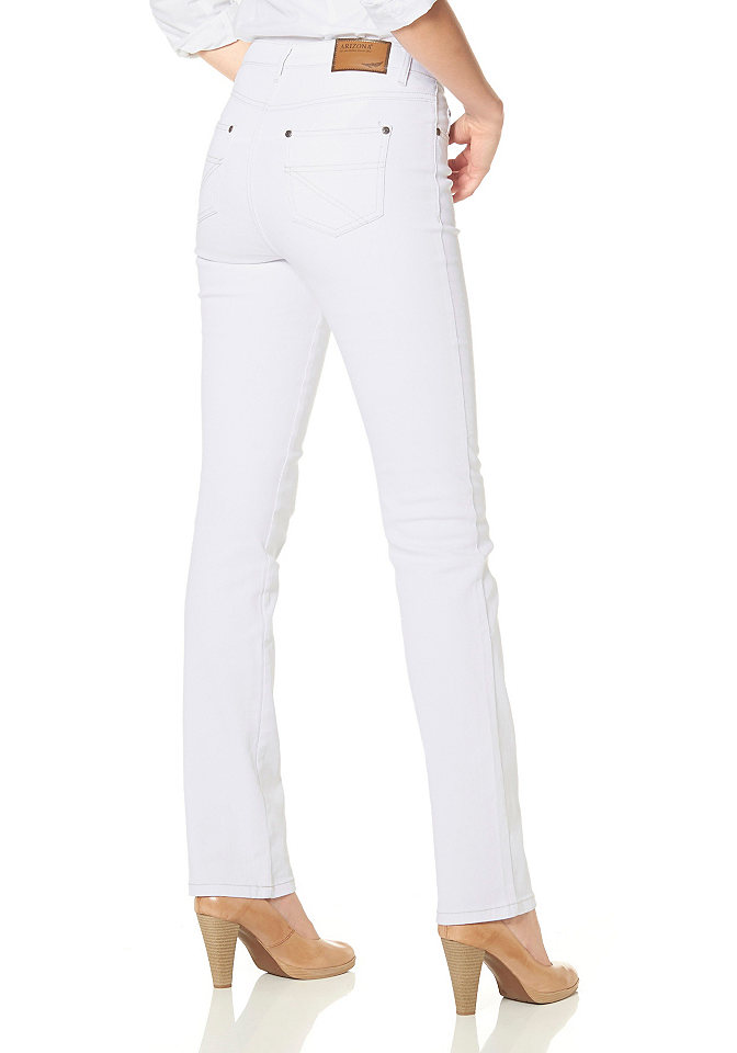 Джинсы стретч «Annett» OttoПрямые<br>Популярная модель джинсов из цветной саржи. Покрой с 5 карманами. Удобная посадка в области бёдер, прямой покрой. Высокий пояс отлично подчёркивает линию талии. Длина по внутреннему шву ок.: Н-разм. 81,5 см, М-разм. 76,5 см, Б-разм. 88,5 см. Классическая посадка. Саржа стретч: 97 % хлопка, 3 % эластана.<br><br>Size DE: 18<br>Colour: белый<br>Gender: Женский<br>Age: Взрослый<br>Material: Верх: 97% хлопок / 3% эластан