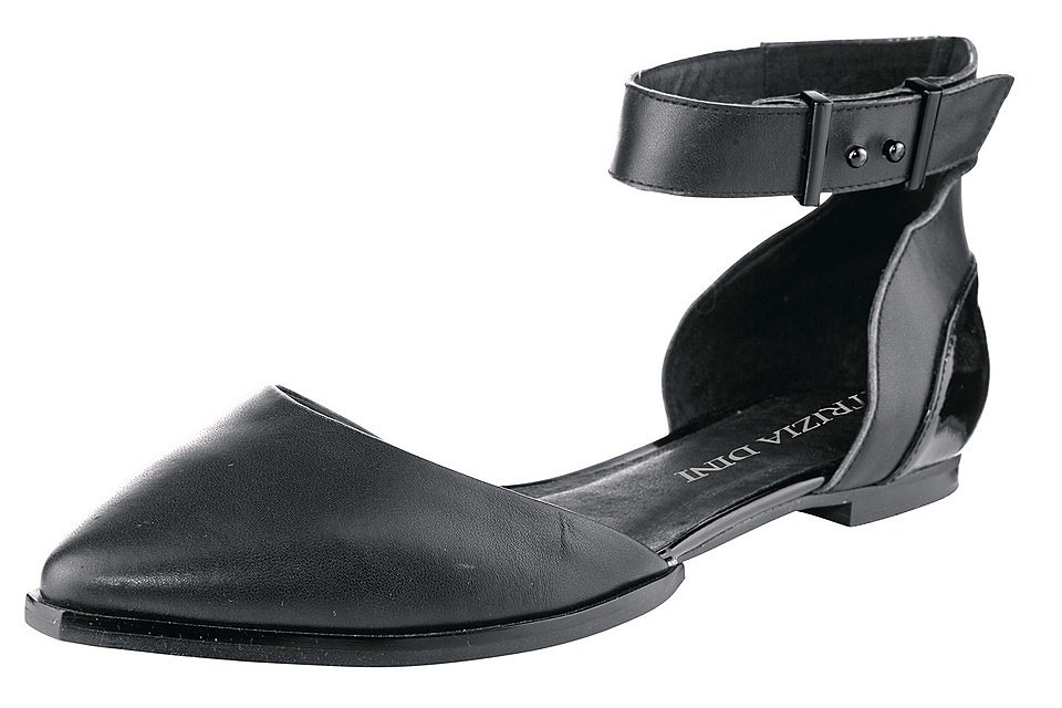 Балетки OttoБалетки и мокасины<br>Комфортные балетки - отличные летние туфли на каждый день! Благородная кожа дополнена лакированными синтетическими деталями. Ремешок на щиколотке надежно фиксирует обувь на ноге. Внутренняя кожаная отделка и хорошо гнущаяся подошва создают комфорт во время ходьбы. Спешите купить эти кожаные балетки в нашем интернет-магазине одежды, в них вам будет удобно!<br><br>Size DE: 36<br>Colour: черный<br>Gender: Женский<br>Age: Взрослый