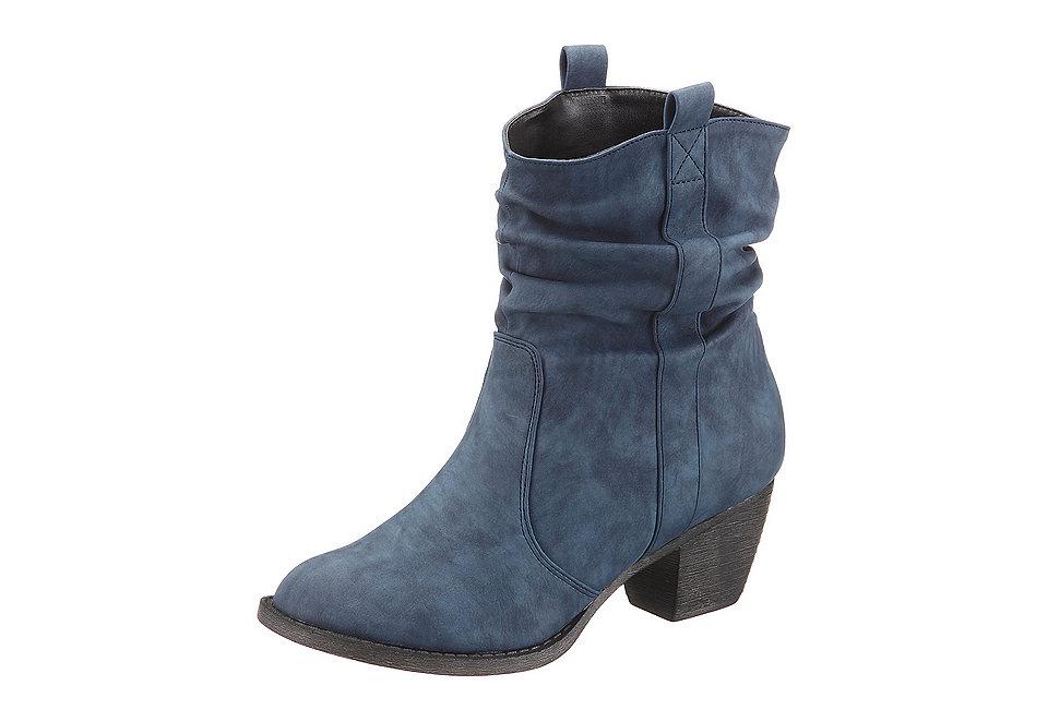 Сапожки OttoСапожки<br>Сапожки, City Walk. Жатая, мягкая искусственная кожа с актуальными сборками и самых актуальных зимних расцветок. Приятная на ощупь, мягко уплотнённая внутренняя отделка из текстиля. Прочная, гибкая подошва в стиле вестерн с каблуком 4,5 см.<br><br>Size DE: 39<br>Colour: синий<br>Gender: Женский<br>Age: Взрослый