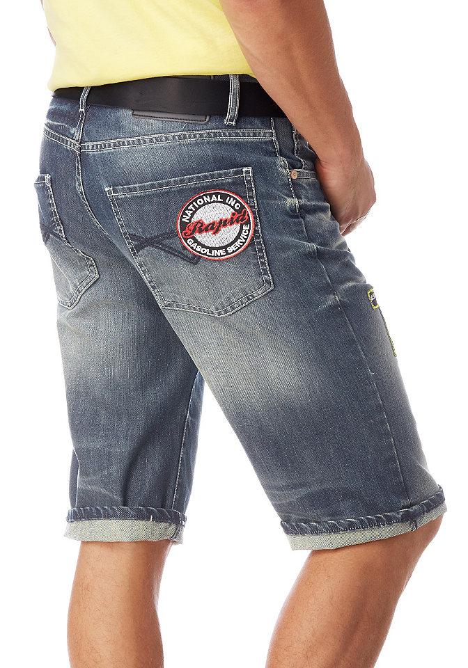 Бермуд OttoПрямой покрой штанин<br>Бермуды имеют заниженную посадку и прямую форму штанин. Модель застегивается на молнию. Рекомендована машинная стирка. Состав: 100% хлопок.<br><br>Size DE: 28<br>Colour: синий<br>Gender: Мужской<br>Age: Взрослый<br>Material: Верх: 100% хлопок