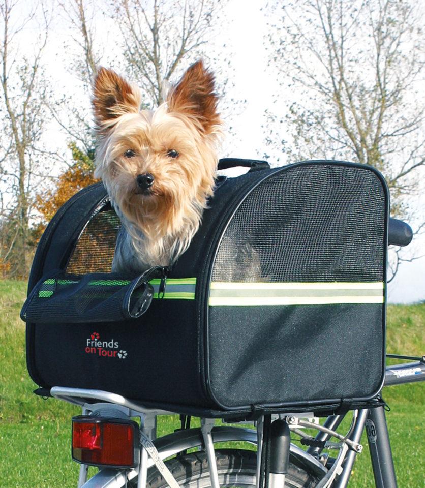 HEIM Cyklistická taška na psa černá