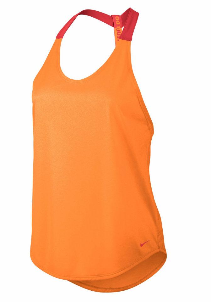 NIKE Tílko, Nike oranžová - Normální délka (N)