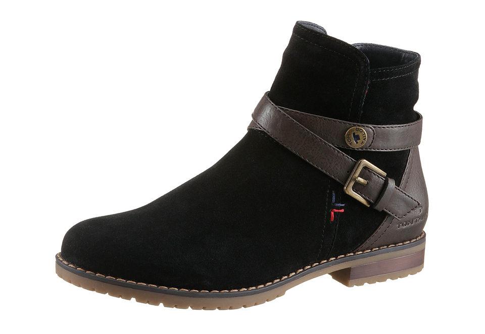 TOM TAILOR Kotníkové boty, Tom Tailor černá