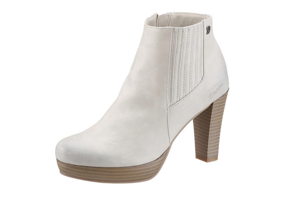 TOM TAILOR Kotníčkové boty, Tom Tailor bílá