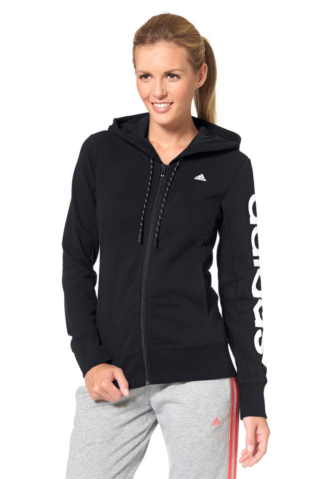 ADIDAS PERFORMANCE Mikina s kapucí Adidas Performance černá/bílá - Normální délka (N)