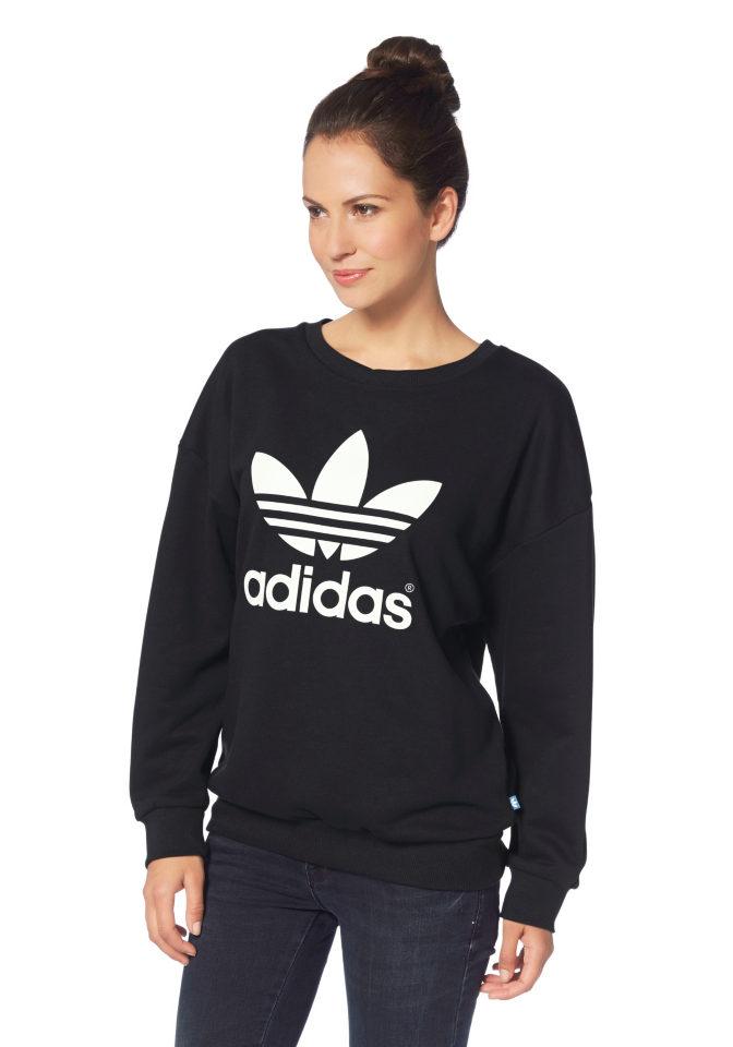 ADIDAS ORIGINALS Mikina Adidas Original černá - Normální délka (N)