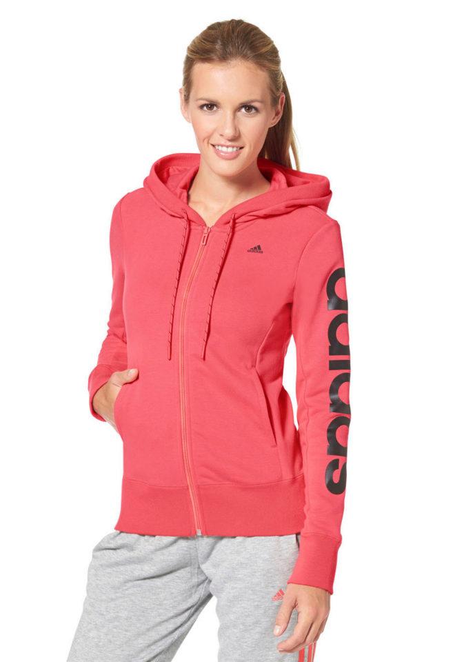 ADIDAS PERFORMANCE Mikina s kapucí Adidas Performance růžová/černá - Normální délka (N)