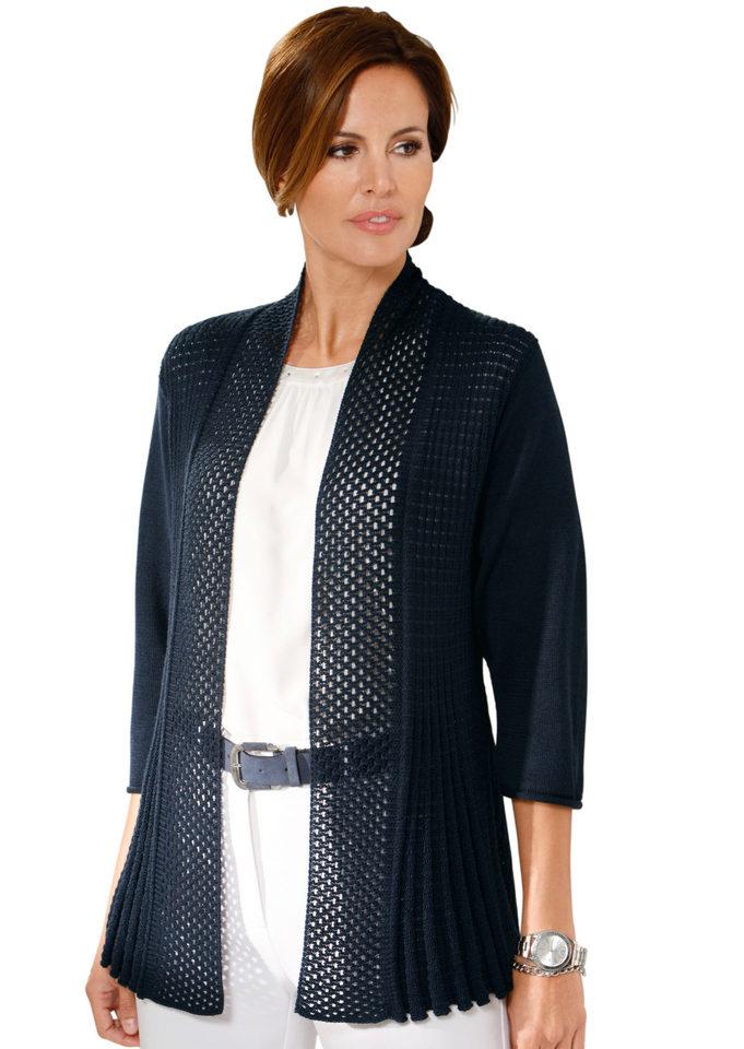 LADY Pletený kabátek námořnická modrá