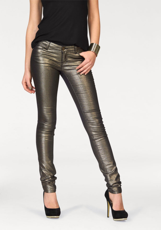 MELROSE Strečové džíny, Melrose zlatá