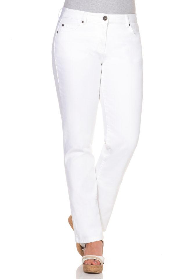 SHEEGO DENIM Strečové džíny,Denim bílý Denim