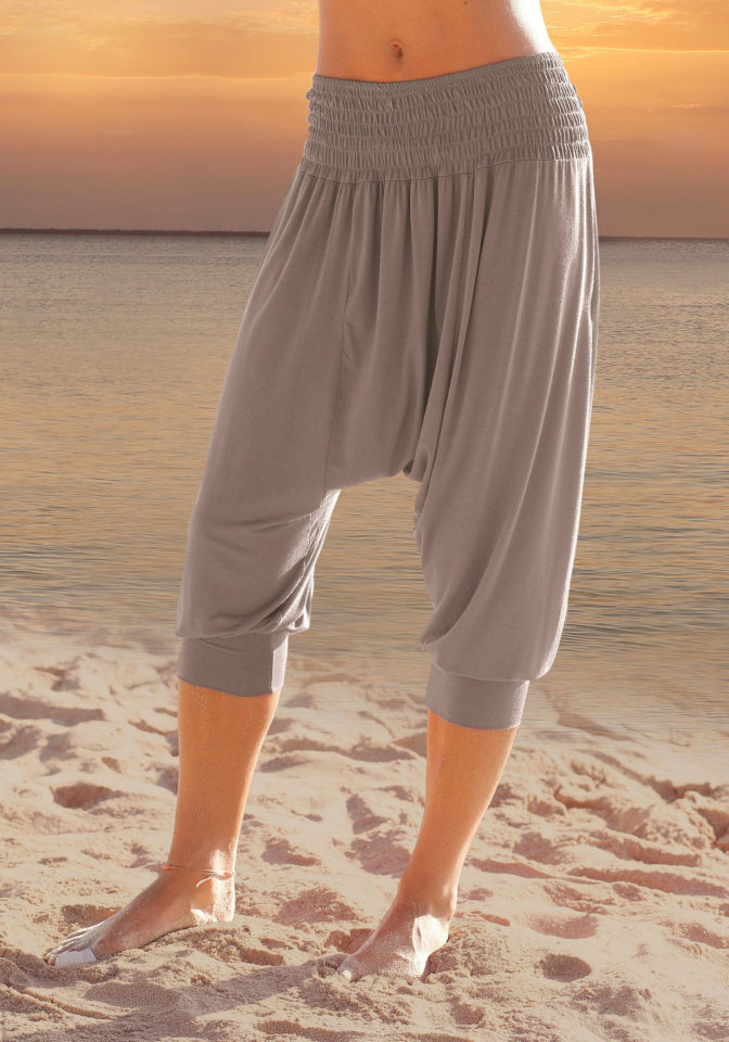 LASCANA Harémové kalhoty, LASCANA hnědošedá