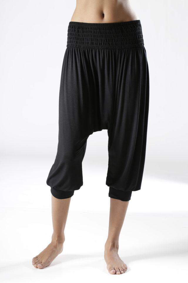 LASCANA Harémové kalhoty, LASCANA černá