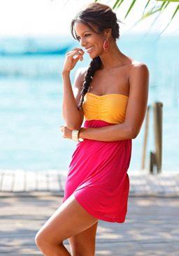 pestré letní mini šaty