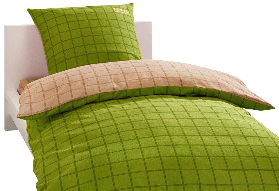 H.I.S, Bettwäsche., »Italy«, creme/grün, Linon