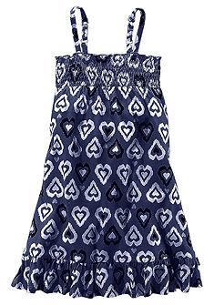 Petite Fleur Žerzejové šaty se žabkováním, pro dívky