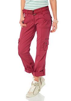 Strečové kalhoty + pásek