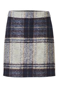 Kockovaná sukňa