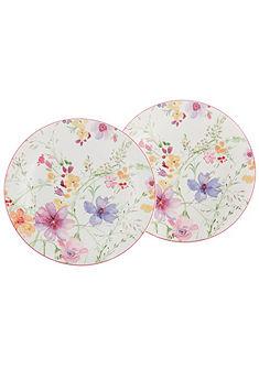 Velký talíř, Villeroy & Boch »květinový dekor« (2 ks)