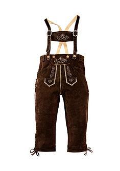 Kožené nohavice, s tradičnou výšivkou, Country Line