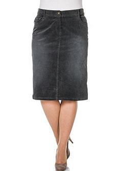 sheego Casual Manšestrová sukně