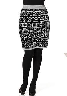 sheego Trend Pletená sukňa