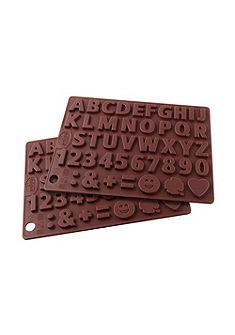 Silikonová forma na čokoládu »písmena a čísla«, Dr. Oetker (2-dílná sada)