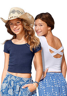 Arizona póló divatos hátkivágással  (2db), lányoknak