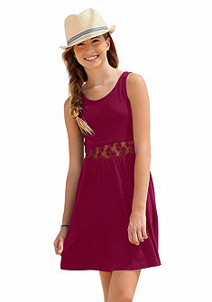 Petite Fleur Šaty s krajkou, dívčí