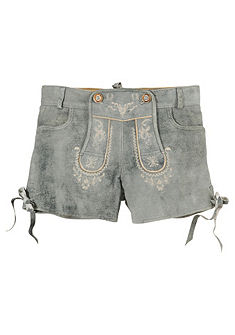 Damen Kožené nohavice s vyšitým trakmi, Stockerpoint