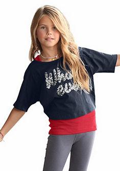 CFL póló & top flitterrel (szett, 2 részes), lányoknak