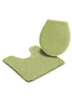 Fürdőszobaszőnyeg, álló WC szett, my home, »Sanremo«, magasság 30mm, mikroszálas, csúszásgátlós hátoldal